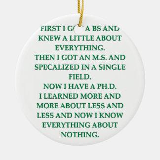 phd joke ornament