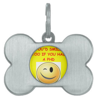 phd joke pet ID tag