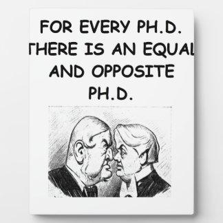 phd joke display plaques