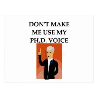 phd joke postcard