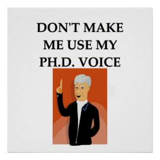 phd joke posters