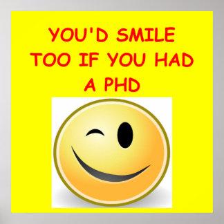 phd joke poster