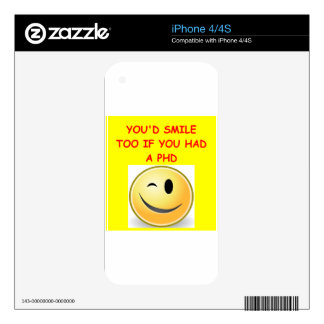 phd joke decal for iPhone 4S