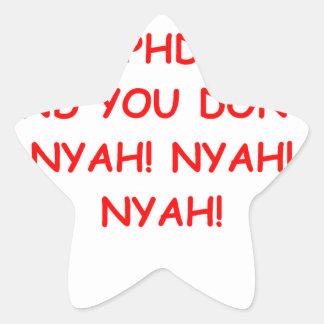 PHD joke Star Sticker