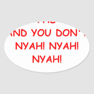 PHD joke Oval Sticker