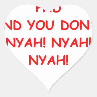PHD joke Heart Stickers