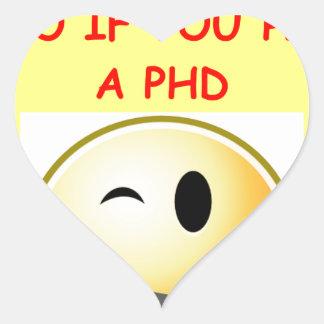 phd joke heart sticker