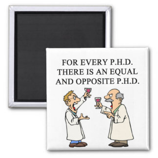 PHD proverb 2 Inch Square Magnet