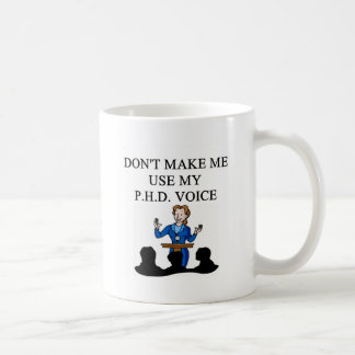 PHD voice Classic White Coffee Mug