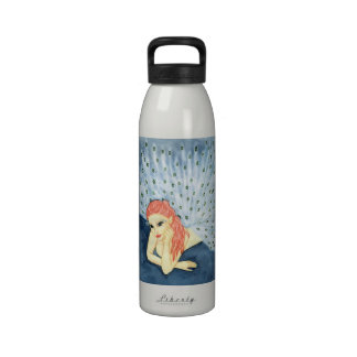 pheamaid- peacock girl Water Bottle