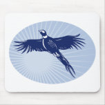 Pheasant bird flying up mouse pads