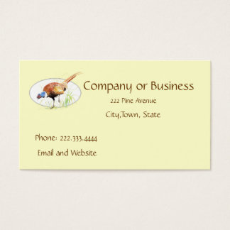 Pheasant, Bird, Nature, Environment, Business Card
