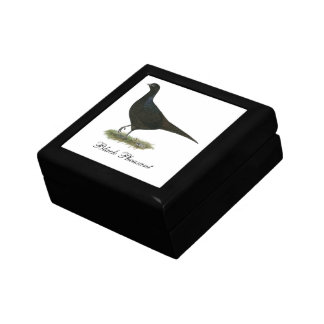 Pheasant Black Hen Trinket Box
