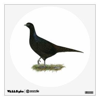 Pheasant Black Hen Room Sticker