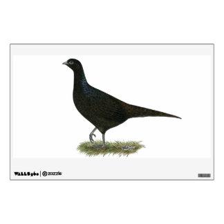 Pheasant Black Hen Room Graphics