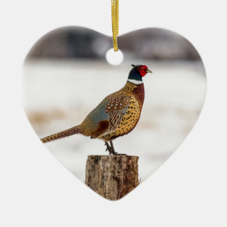 Pheasant Ceramic Ornament