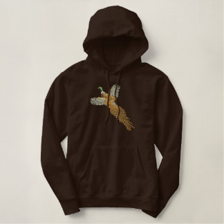 Pheasant Embroidered Hoodie