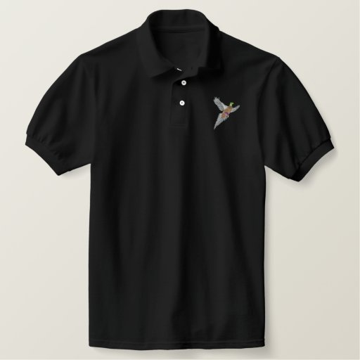 Pheasant Embroidered Polo Shirt