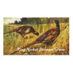Pheasant farm business card