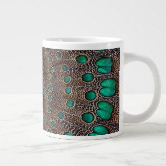 Pheasant Feather Fractal Design Giant Coffee Mug