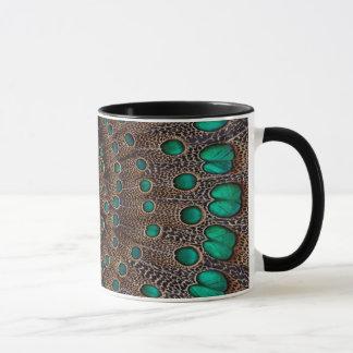Pheasant Feather Fractal Design Mug