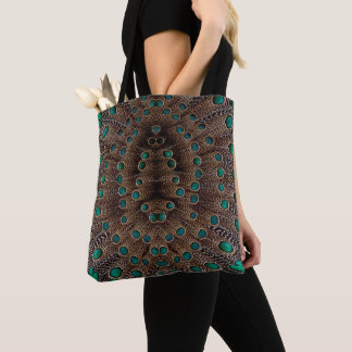 Pheasant Feather Fractal Design Tote Bag