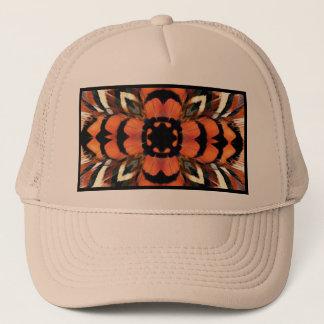 Pheasant Feather Kaleidoscope Trucker Hat