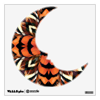 Pheasant Feather Kaleidoscope Wall Decal