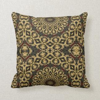 Pheasant Feathers Kaleidoscope Throw Pillow