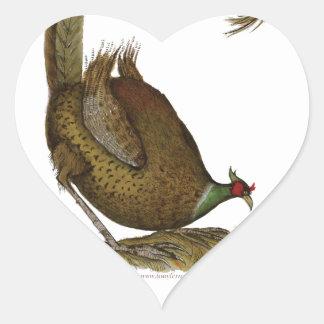 pheasant game bird, tony fernandes heart sticker
