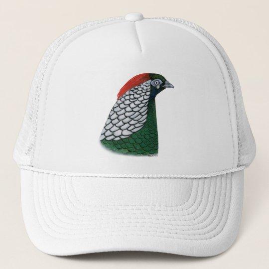 Pheasant:  Lady Amherst Head Trucker Hat
