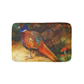 Pheasant Pair Small Bath Mat