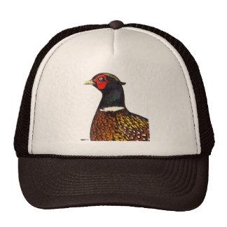 Pheasant:  Ringneck Head Trucker Hats