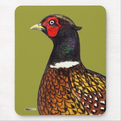 Pheasant:  Ringneck Head Mouse Pad