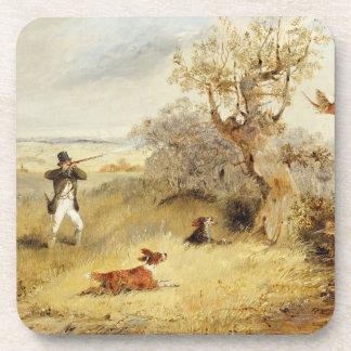 Pheasant Shooting (oil on canvas) 2 Beverage Coaster
