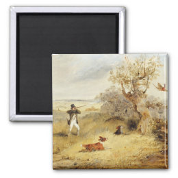 Pheasant Shooting (oil on canvas) 2 Magnet