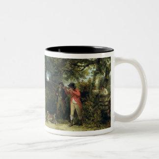 Pheasant Shooting (oil on canvas) 3 Two-Tone Coffee Mug