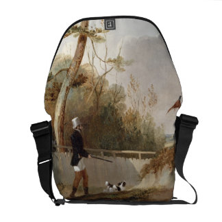 Pheasant Shooting (oil on canvas) Messenger Bag