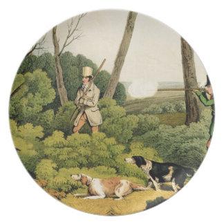 'Pheasant Shooting', pub. by Thomas McLean, 1820 ( Dinner Plate