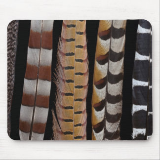 Pheasant tail feathers mouse pad
