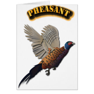Pheasant with Text Card