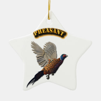 Pheasant with Text Ceramic Ornament