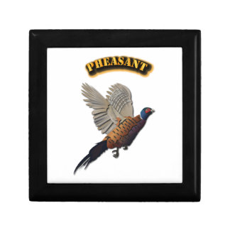 Pheasant with Text Jewelry Box