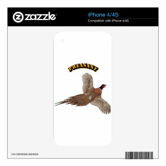 Pheasant with Text iPhone 4S Decal