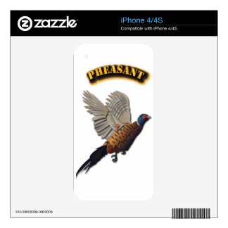 Pheasant with Text Skin For iPhone 4