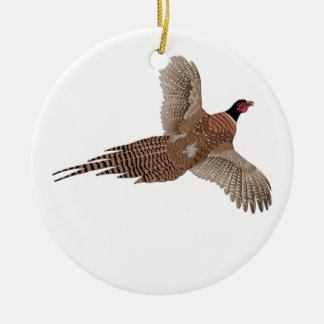 Pheasant without Text Ceramic Ornament