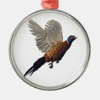 Pheasant without Text Metal Ornament