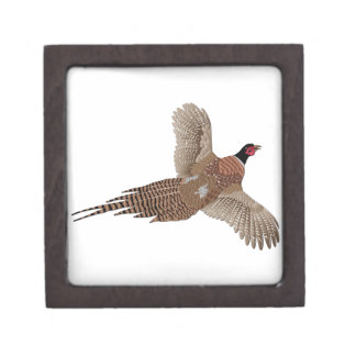 Pheasant without Text Premium Jewelry Boxes