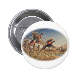 Pheasants Aloft - Great Hunting on the farm Button
