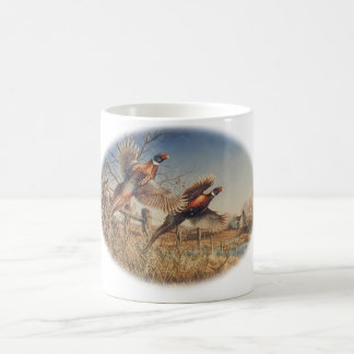 Pheasants Aloft - Great Hunting on the farm Coffee Mug